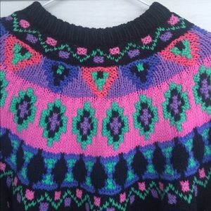 Tops - Vintage 1990s northern isles knitted by hand